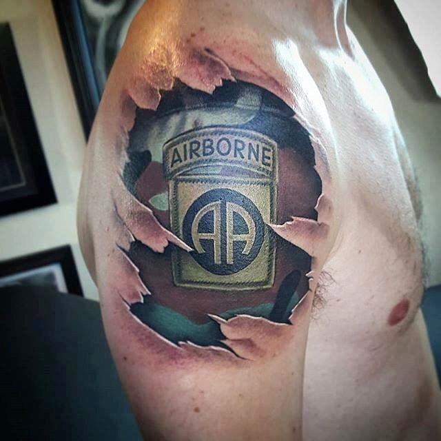 Airborne Shoulder Tattoo