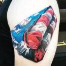 Military-tattoo-usa-folded-flag