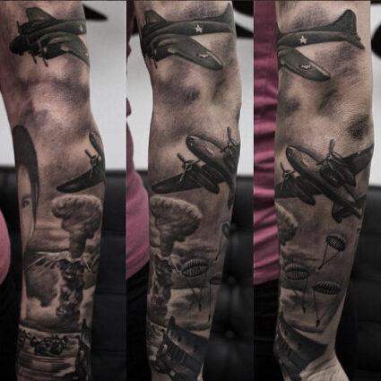 Military Tattoo WWII Parachuters