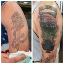 Veteran Tattoos Airborne 327 Cover Up