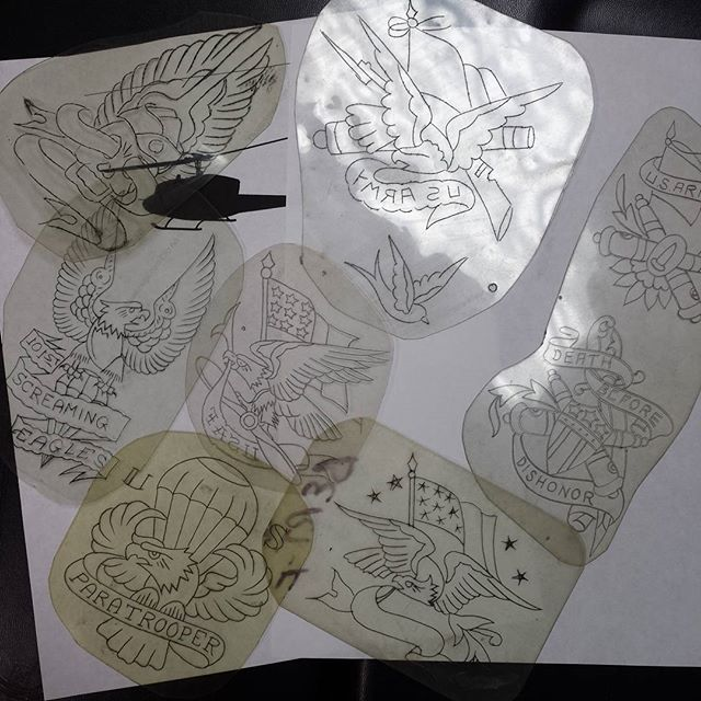 Veteran Tattoos Sketch Templates
