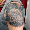 American Eagle Left Shoulder Tattoo