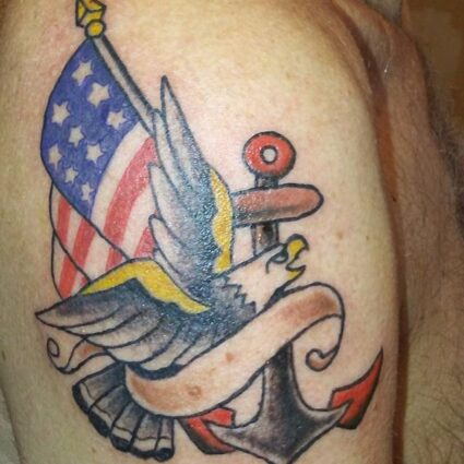 Colored US Navy Tattoo
