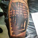 Fallen Soldier Calf Tattoo