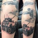 Military Forearm Tattoos