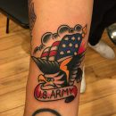 US Army Wrist Tattoo