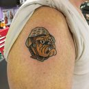 USMC Right Shoulder Tattoo