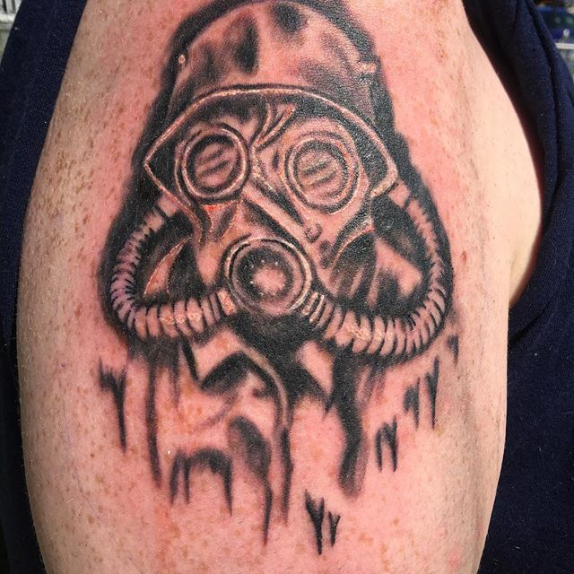 WWII Gas Mask Tattoo