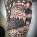 American Eagle Bicep Tattoo