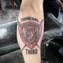 Third Battalion Marines Forearm Tattoo