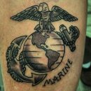 United States Marines Forearm Tattoo