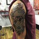 3D Army Shoulder Tattoo