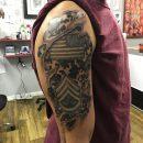 3D Army Shoulder Tattoo