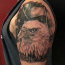 American Flag With Eagle Tattoo