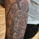 Ace Of Spades Soldier Forearm Tattoo
