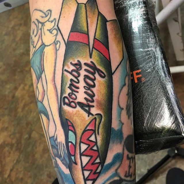 Pinup Bomber Tattoo