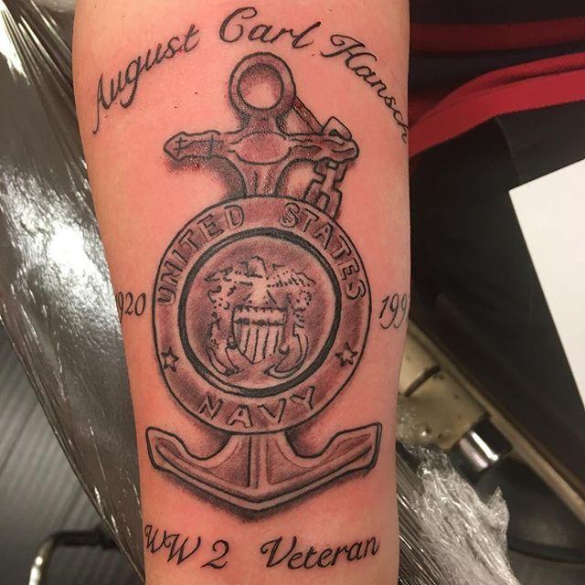 Veteran Memorial Forearm Tattoo