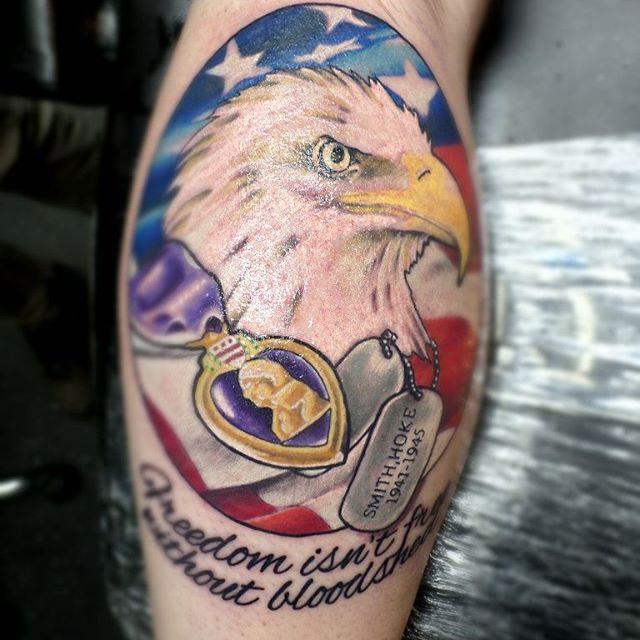 Freedom Isn't Free Veteran Tattoo