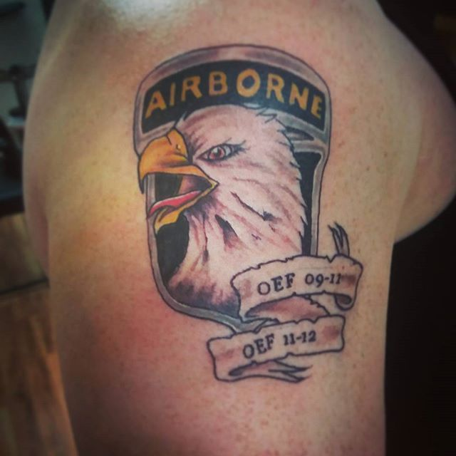 US Airborne Right Shoulder Tattoo