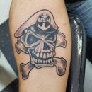 US Navy Skull Forearm Tattoo