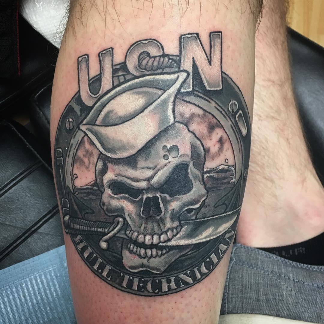 US Navy Skull Tattoo