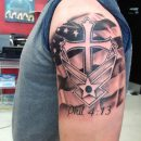 Airforce Shoulder Tattoo