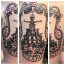 US Navy Shoulder Tattoo