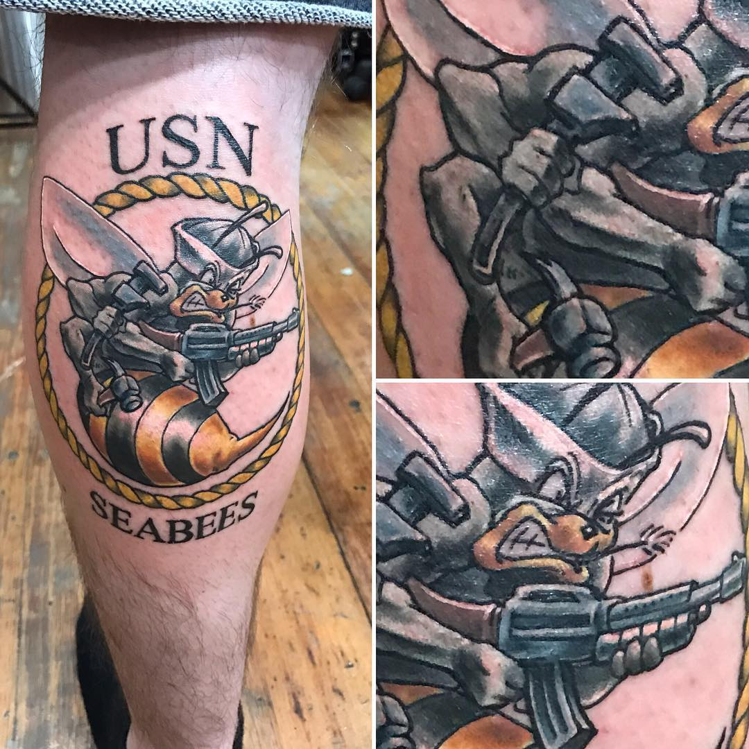 USN SeaBees Tattoo
