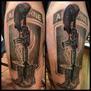 Fallen Soldier Airborne Tattoo