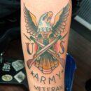 US Army Forearm Tattoo