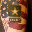 US Army Shoulder Tattoo