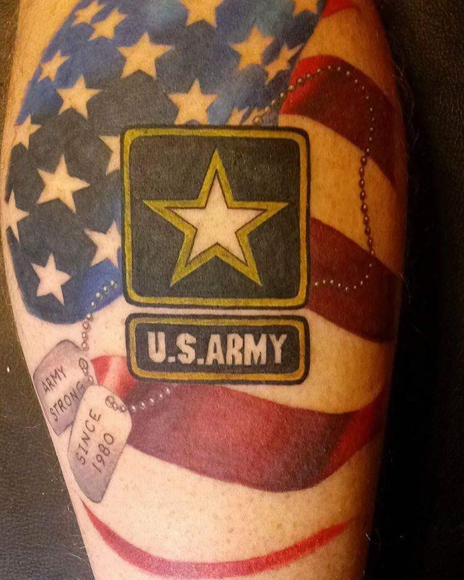 US Army Shoulder Tattoo