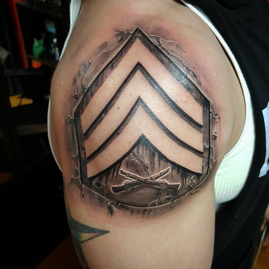 Military Rank Tattoo