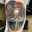 Amazing Colored Navy Tattoo