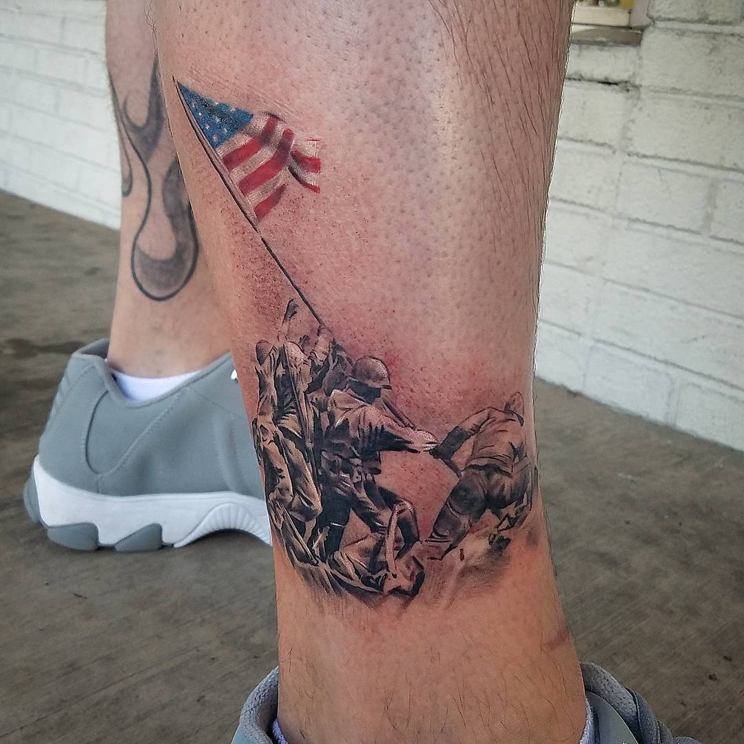 Raising Flag Iwo Jima Tattoo
