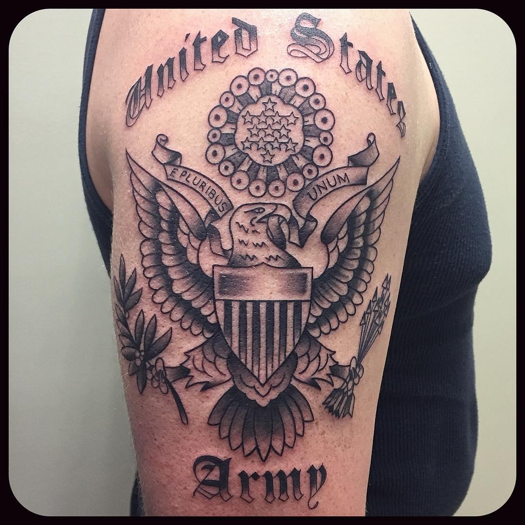 US Army Arm Tattoo