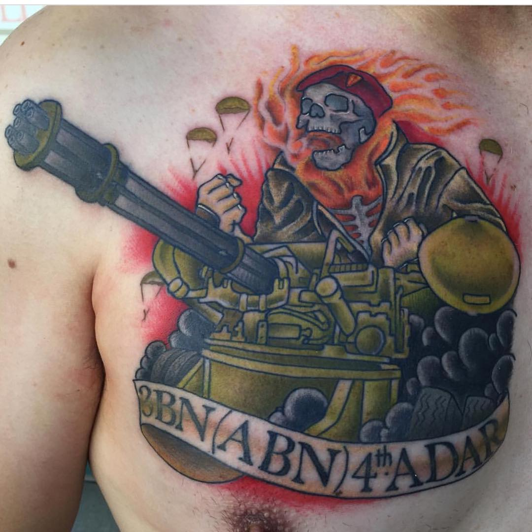 Army Skull Tattoo