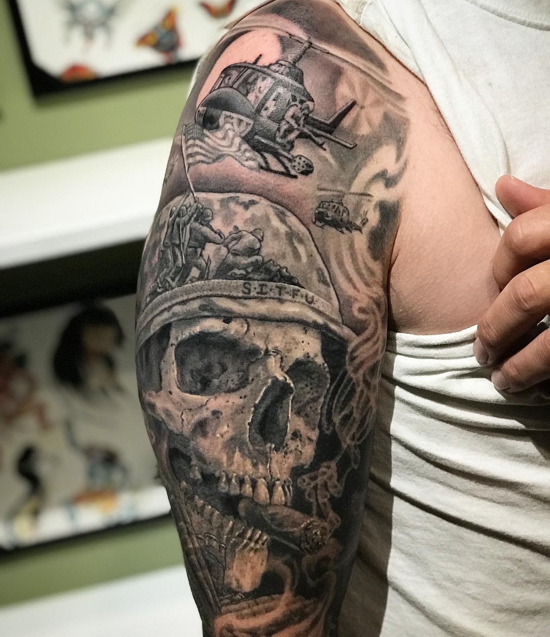 Skull Soldier Tattoo