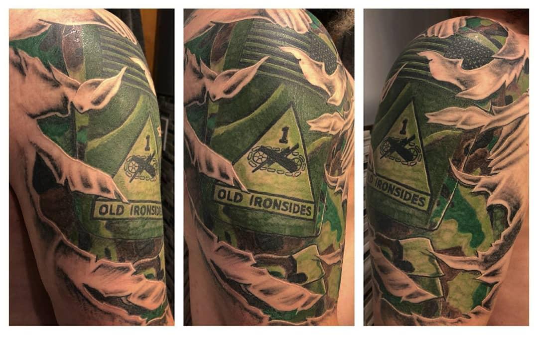 Military Arm Uniform Tattoo