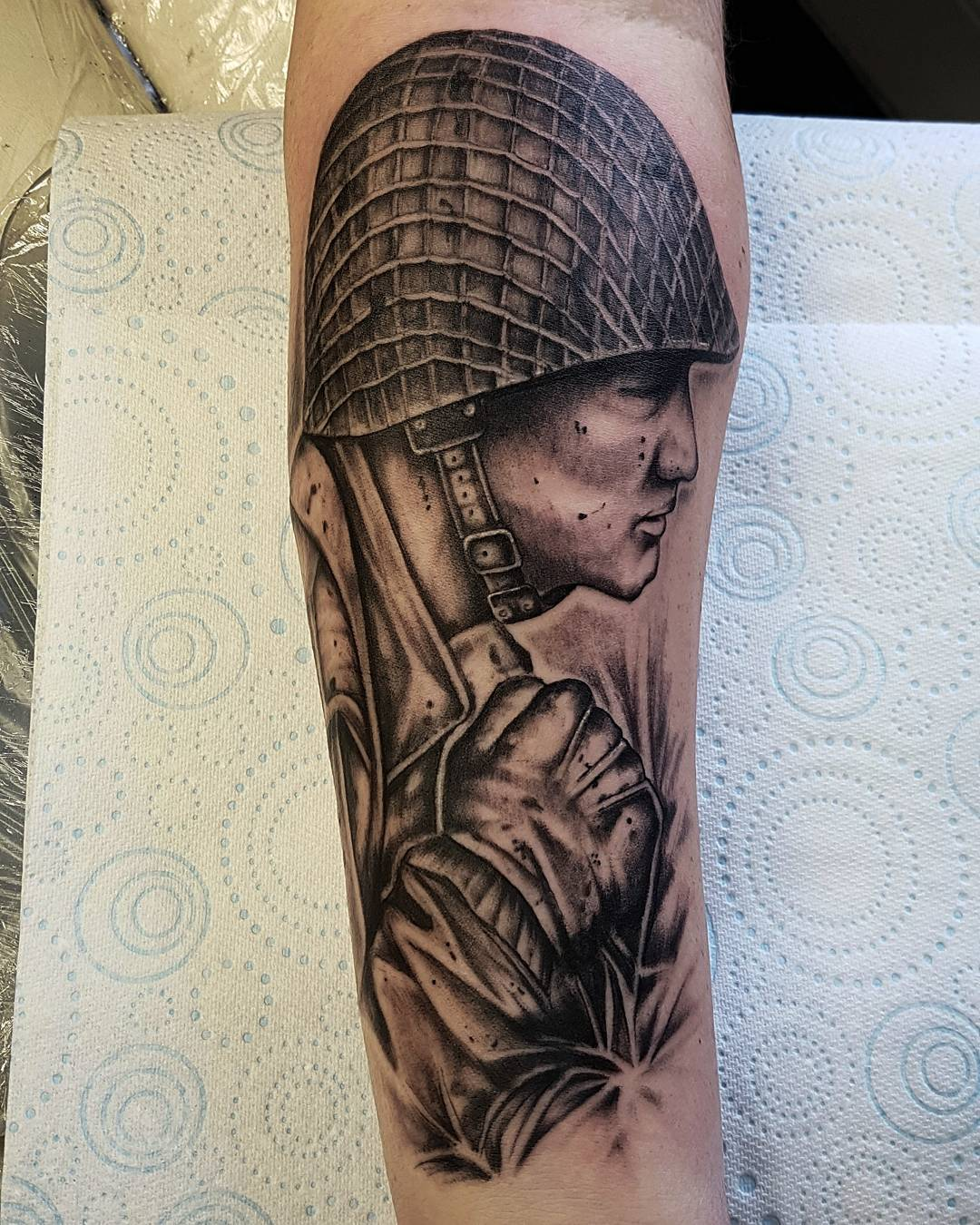Military Soldier Arm Tattoo