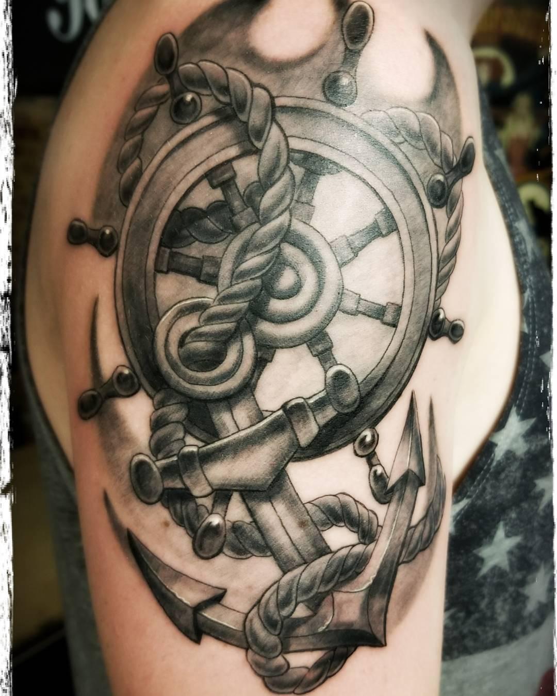 Navy Bicep Tattoo