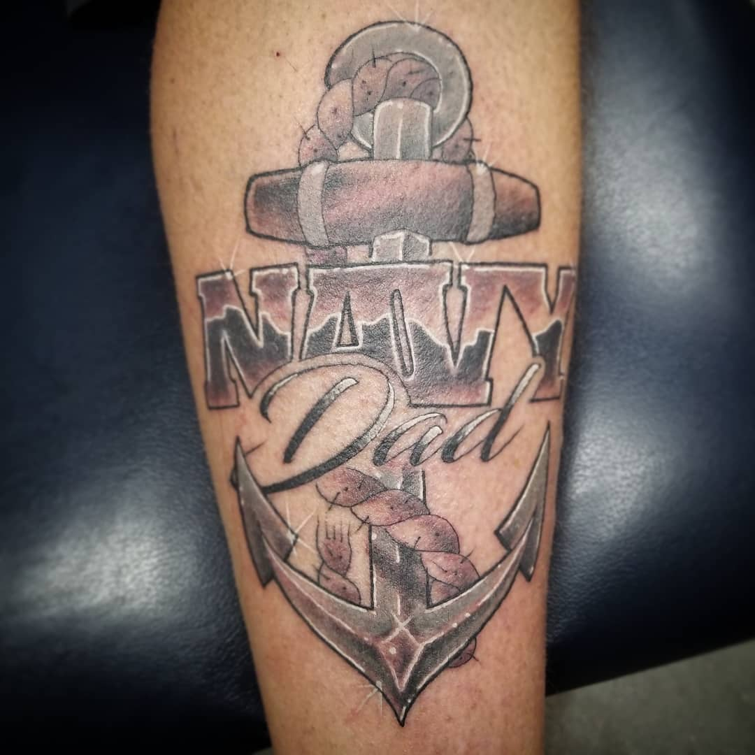 Navy Dad Anchor Tattoo