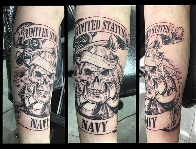 Navy Skull Tattoo