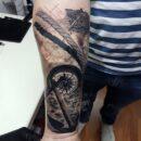 USN Compass Tattoo