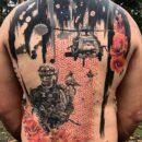 Military Chopper Back Tattoo