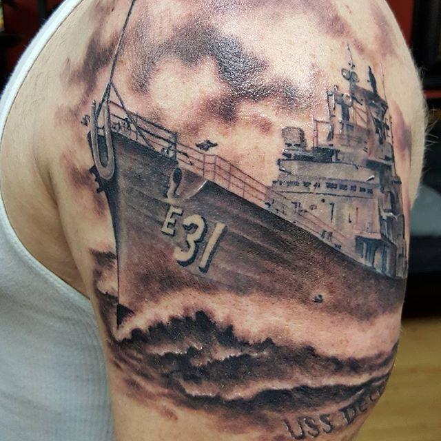 USS Navy Ship Tattoo